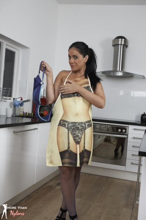Novelty Aprons and Naughty Nylons